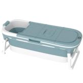 1.5m Bathtub Bath Barrel Adult Child Folding Temperature Display Bath Tub Soaking Tub Basin Baby Swim Sauna