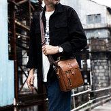الرجال جلد طبيعي ريترو الأعمال الصغيرة جلد البقر حقيبة الكتف حقيبة كروسبودي