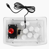 Transparent Joystick Fighter Tower USB Komputer TV Box Arcade Game Controller Rocker