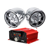 12V Motorcycle Audio bluetooth Remote Control Speaker Sound System TF USB MP3 FM Universal