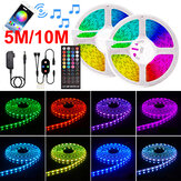 5/10M 12V LED Strip Lights 5050 RGB COLOUR CHANGING bluetooth APP Remote Music Smart Strips