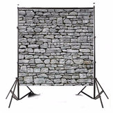 8x8ft Light Gray Stone Wall Photography Backdrop Studio Prop Background