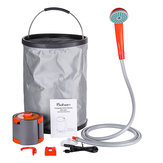 Portable Collapsible Bucket Water Shower Powered Handheld Camping Shower 2200mA Rechargeable Li-ion