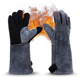 2pcs Barbecue Gloves High Temperature Double Insulated Kitchen Microwave Oven Baking Outdoor BBQ Heat Resistant  Hand Safety Welding Gloves Cooking Glove