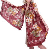 Women Elegant Ethnic Style Floral Printing Scarf