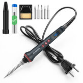 Handskit 90W LED Digital Soldering Iron Kit 110V/220V Adjust Temperature Electrical Soldering Iron 4 Wire Core Welding Tools