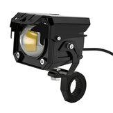 2 pezzi moto LED ausiliario Hi / Lo fascio strobo doppi colori fendinebbia in lega di alluminio punto di guida di sicurezza lampada faro