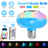 12W RGBW E27 Dimmable Bluetooth LED Light Bulb Kontrol Aplikasi Speaker Musik Lampu + Remote Control 85-265V
