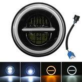 7 Inch DRL LED Koplamp Hi / Lo Beam Halo Richtingaanwijzer Lamp Voor Harley / JEEP / Wrangler Auto Vrachtwagen Motorfiets