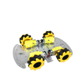 SNC380 Aluminium RC Robot Car Chassis Base met Mecanum Wheel
