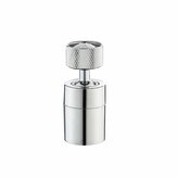 360° Rotate Universal Splash Filter Faucet Water Outlet Faucet Extender Silver