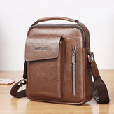 Weixier Men PU Leather Vintage Handbag Retro Crossbody Bag