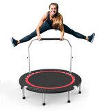40 polegadas 100x22 cm Dobrável Mini Trampolim Esporte de Salto Ao Ar Livre Aptidão Ferramentas de Exercício com Alça de Espuma Ajustável para Crianças Adultos Carga Máxima 150 kg