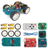 4WD Wireless IR Remote Control Smart Car  Kit for ATmega328P UNO R3 with IR Controller/UNO R3 Motherboard/TT Motor