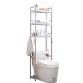 1/2/3 Tiers Over Toilet Rack Kitchen Bathroom Storage Shelf Space Saver Shelf Organizer Bath Towels Shampoo Shower Gel Holder
