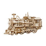 3D Assembly Puzzle in legno Locomotive Movement Train Kit Meccanico Gears Rompicapo Model Building Gift