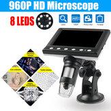 Lupa portátil Cámara del microscopio de Digitaces 1000X 4.3 pulgadas con las luces 8LED