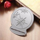 Bola de cristal metal corte morre stencil scrapbook cartão álbum papel artesanato decoração