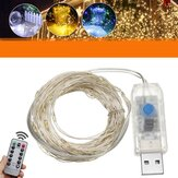 10M USB LED Copper Wire Fairy String Light 8 Modes Outdoor Strip Lamp Wedding Christmas Party