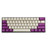 MechZone 108 touches Milk Purple Keycap Set OEM Profile PBT Keycaps pour 61/68/87/104/108 Keys Claviers mécaniques