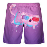 Cartoon Cat Printing Summer Casual Beach Board Shorts for Me