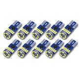 AUDEW 10Pz 4014 SMD T10 W5W LED Luci di posizione laterali con indicatore CANBUS Senza errori 12V 6712K Bianco