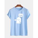 Mens drôle de bande dessinée fantôme o-cou respirant t-shirts à manches courtes