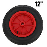 12 Inch Pneumatic Inflatable Tyre Trolley Barrow Cart Tires Wheelbarrow Wheel Replacement Part