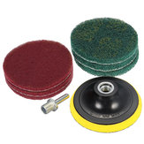 100/125mm Backing Pad With 6pcs Abrasive Finishing Pads Abrasive Tool Set