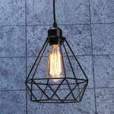 E27 Industrial Industrial Hanging Light Shade Geometric Ceiling Pingente Abajur