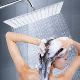 12'' Stainless Steel Chrome Square Shower Head Rainfall Bathroom Spray Overhead