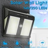 146/250 LED Solarlicht Drahtloser wasserdichter Bewegungssensor Outdoor Garden Security Solarleuchten