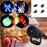 4W 2 Patterns Laser Projector LED Stage Light Outdoor Garden Landscape Christmas Decor Lamp