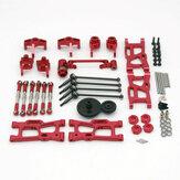 Wltoys 144001 124019 124018 Conjunto de peças de metal atualizadas Peças de carro RC