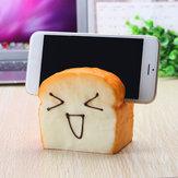 Jumbo Squishy 7 seconden langzaam verhogen plakje toast blij gelukkig gezichten mobiele telefoon zitplaats mobiele telefoon houder