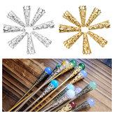50pcs berretti di cura di petunia di cono d'oro d'argento diy gioielli