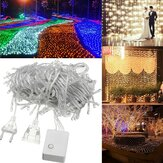 20 M 200LED Fada À Prova D 'Água Corda Luz de Natal Festa de Casamento Ao Ar Livre Lâmpada UE Plug AC220V