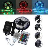 5M SMD 3528 300 Nicht-Wasserdichtes LED RGB- Streifen flexibles Licht 24 Key IR Fernbedienung + Netzteil DC12V