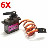 6X MG90S Metal Gear RC Micro Servo 13.4g til ZOHD Volantex Fly RC Helikopter Car Boat Model