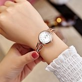 JW 3512 Fashion Round Dial Rhinestones Alloy Lady Armband Bangle Vrouwen Jurk Quartz Horloge
