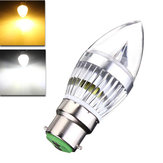 E27 E14 B22 E12 6W LED Chandelier Candle Light Bulb 85-265V