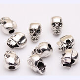 10Pcs Tibetan Silver Skull Beads DIY Paracord Bracelet Jewelry Findings