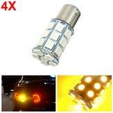 4szt 21W 5050 27SMD LED Turn Signal Light Lampa tylna LED żółty 12V