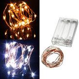 Quente branco / branco puro 2m 20 LED cobre 5v lâmpada fio LED luzes cadeia
