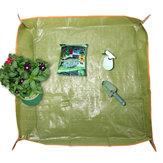 35x35 İnç PE Kaplama Saksı Pabucu Zırhı Bahçecilik Transplant Pruning Ground Mat