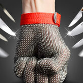 Safety Cut Proof Stab Resistant Stainless Steel Mesh Logam Butcher Glove Ukuran M