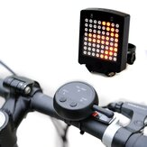 64 LED Wireless Remote Laser Bicycle Rear Tail Light Bike Turn Signals Safety Warning Light