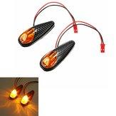 2x LED Universal Motosiklet Dönüş Sinyali Işığı Göstergeleri Lamba Amber