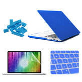 ENKAY Matte Shell Toetsenbord Cover Screen Film Anti Stof Plug Set Voor Macbook Pro Retina 15,4
