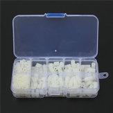 Suleve ™ M3NH9 M3 Nylon Sekrup Putih Hex Sekrup Mur Nylon PCB Standoff Assortment Kit 300 pcs